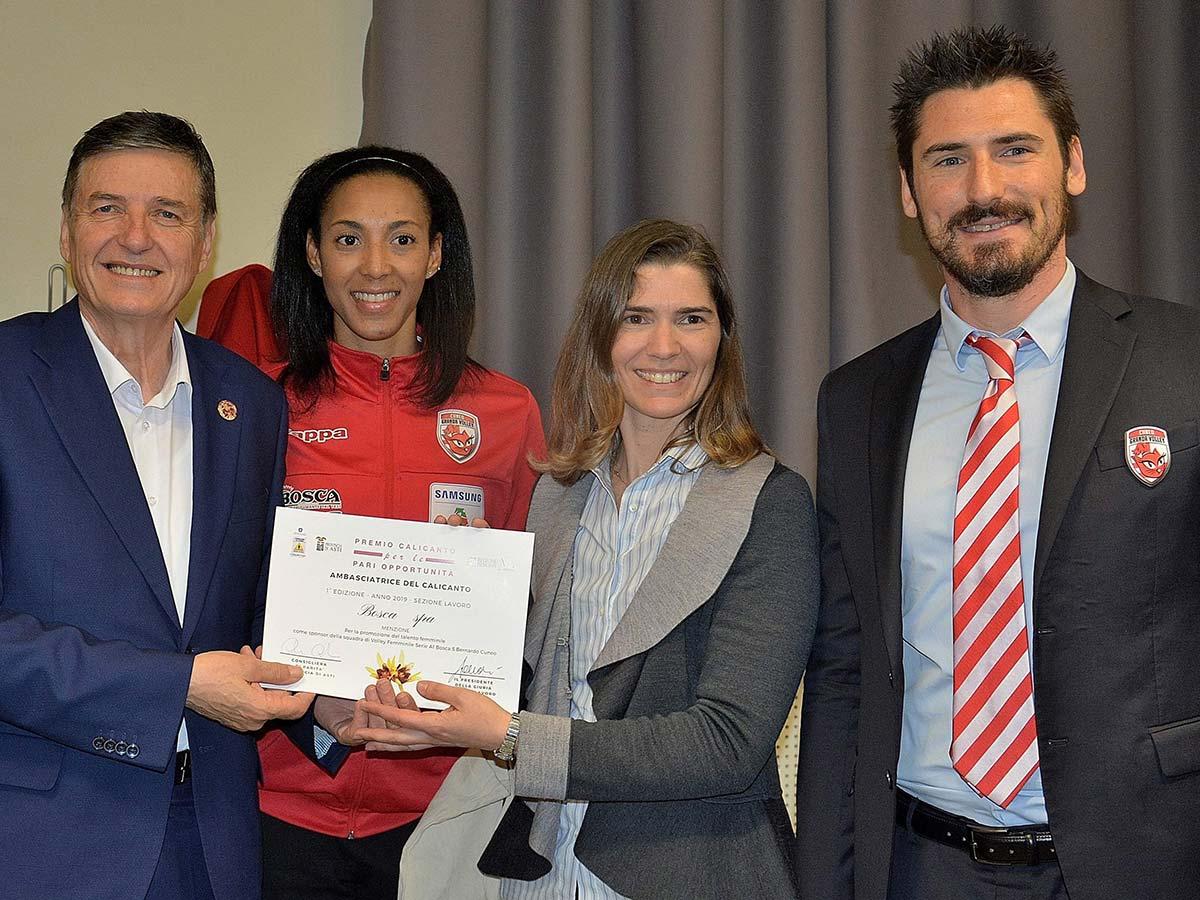 premio calicanto per la pari opportunità sport volley
